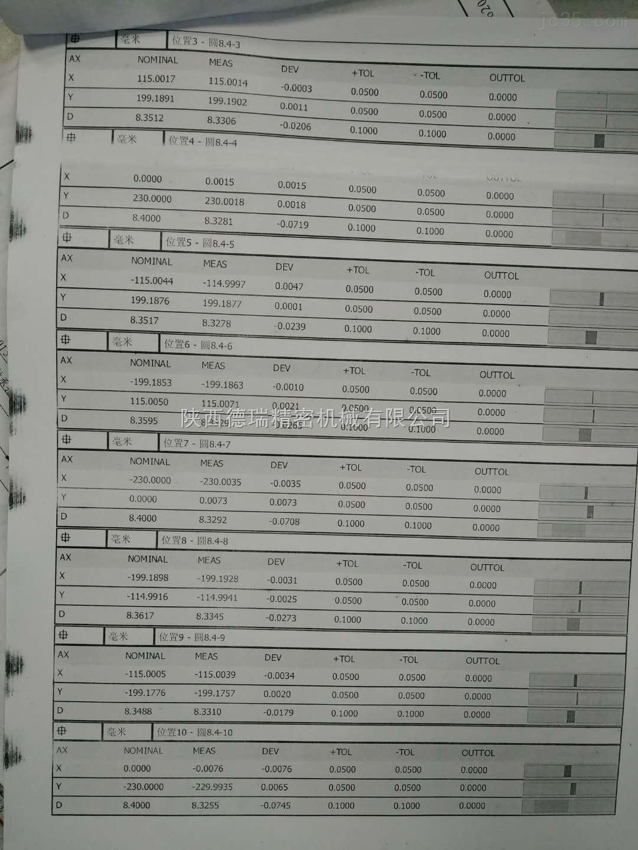三坐標檢測報告1