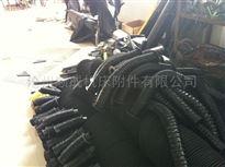 自定圆形伸缩丝杠防护罩螺旋钢带保护套
