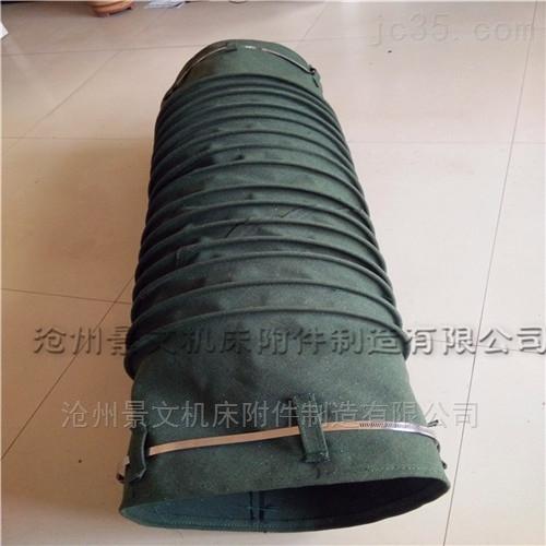 粉尘耐温帆布通风伸缩软管厂家推荐价格