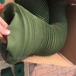 军绿色帆布伸缩筒生产 高温绿帆布伸缩软连接 风道口伸缩防尘罩