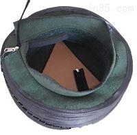 缝制式帆布伸缩丝杠保护套 圆形防护罩