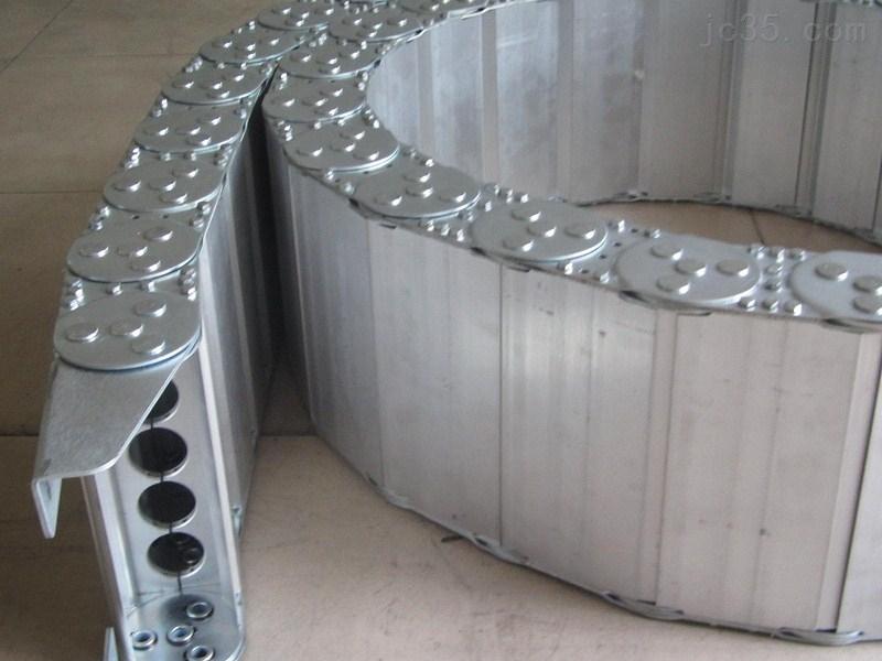 定做全封闭式机床钢铝拖链