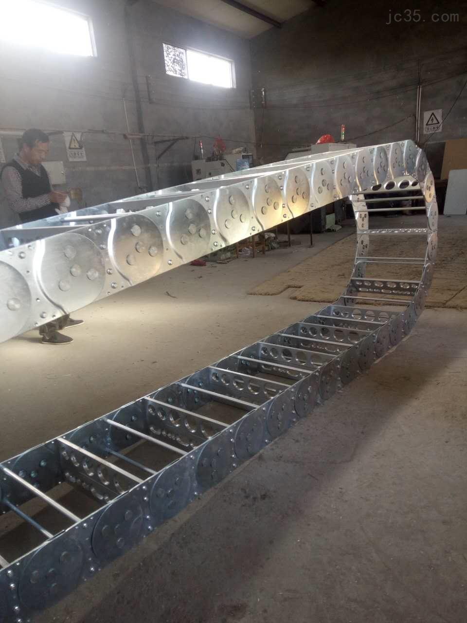 拔渣机钢制拖链