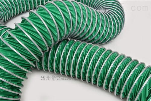 徐州绿色帆布通风伸缩软管厂家按规格定做